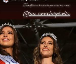 """Marine Lorphelin (Miss France 2013) """"trop fière"""" que sa petite soeur Lou-Anne Lorphelin soit élue Miss Saône-et-Loire"""