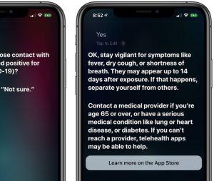 Aux USA, Siri propose de dépister le Coronavirus
