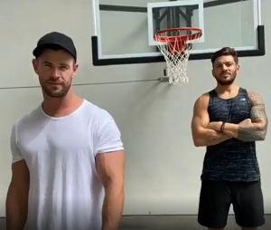 Chris Hemsworth dévoile son entraînement à la maison pour se muscler durant le confinement