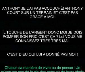 Mélanie Da Cruz dans Les Marseillais VS Le reste du monde 5 : les internautes la clashent de vouloir de l'argent alors qu'elle en a par Anthony Martial, elle répond