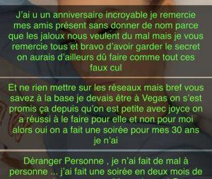 Aurélie Dotremont critiquée pour avoir fêté son anniversaire : son gros coup de gueule