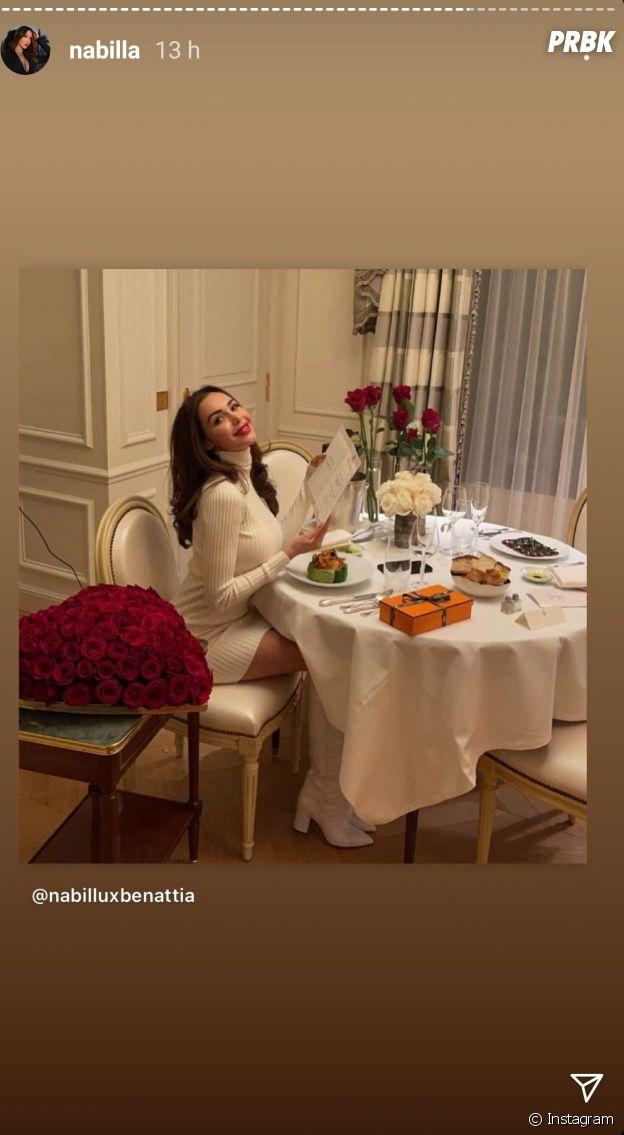 Nabilla Benattia gâtée par Thomas Vergara pour la Saint Valentin : il lui a offert un sac Birkin Cargo d'Hermès à 80 000 dollars, et pas que