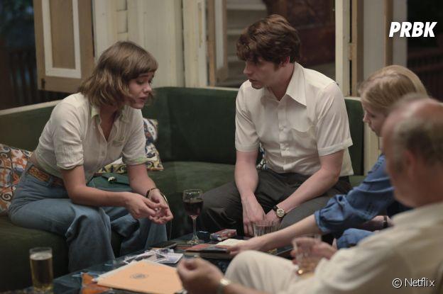 Le Serpent : Mathilde Warnier (Nadine Gires) et Billy Howle (Herman Knippenberg)