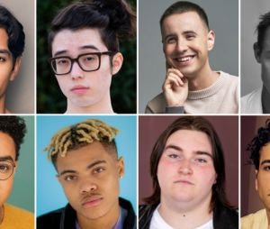 The Wilds saison 2 : voici Zack Calderon, Aidan Laprete, Nicholas Coombe, Charles Alexander, Miles Gutierrez-Riley, Reed Shannon, Tanner Ray Rook et Alex Fitzalan (de droite à gauche)