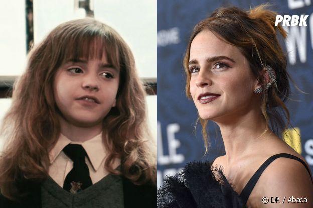 Emma Watson dans le premier film Harry Potter VS aujourd'hui