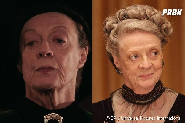 Maggie Smith dans le premier film Harry Potter VS aujourd'hui