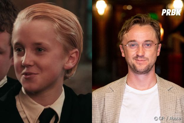 Tom Felton dans le premier film Harry Potter VS aujourd'hui