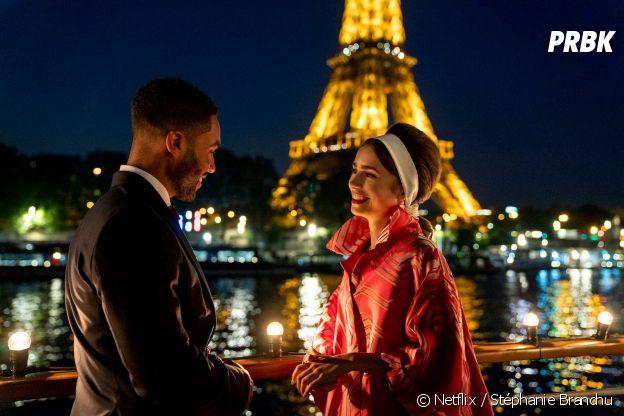 Emily in Paris saison 2 : Lucien Laviscount (Alfie) et Lily Collins (Emily)