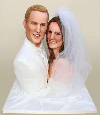Kate Middleton et Prince William ... Un gâteau de mariage à leur ...