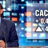 JT de 13h de TF1 ... Pernaut donne le cours du CAC 40 malgré la fermeture de la bourse (VIDEO)