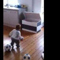 Bébé footballeur prodige ... A 18 mois, il signe déjà dans un club (VIDEO)