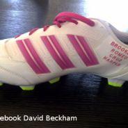 David Beckham raide dingue de sa fille Harper ... il lui dédicace ses baskets (PHOTO)