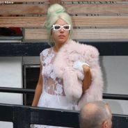 Lady Gaga presque nue : toute de dentelle vêtue à Londres (PHOTOS)