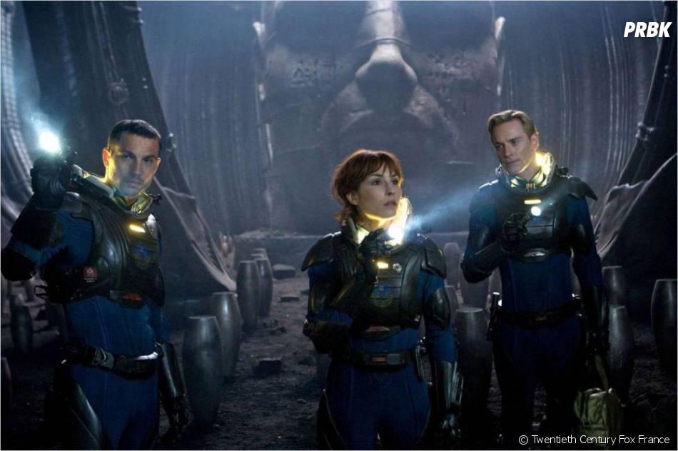 Prometheus avec Michael Fassbender et Noomi Rapace