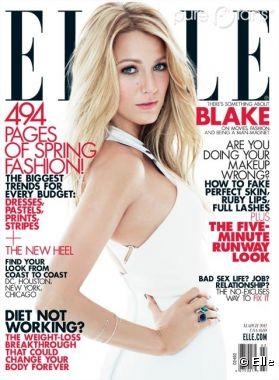 Blake Lively en une de Elle