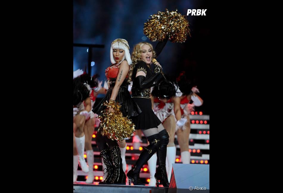 Madonna et Nicki Minaj sur scène