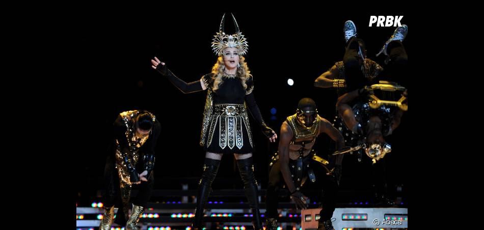 Madonna lors de la finale du Super Bowl