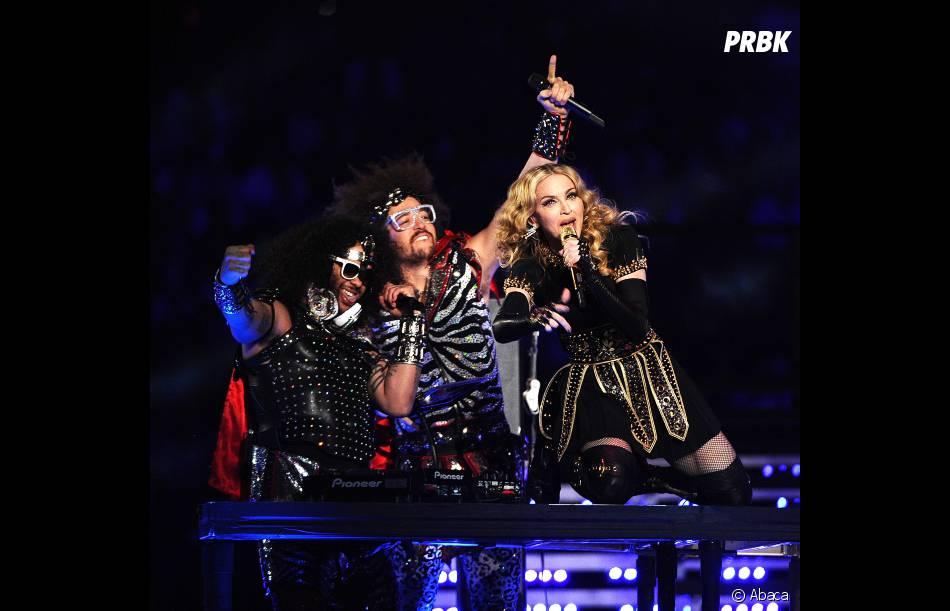 Madonna et les LMFAO sur scène