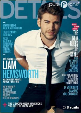 Liam Hemsworth, sexy en une de Details