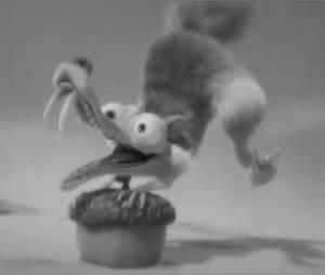 Scrat est un Scratist dans la parodie de The Artist