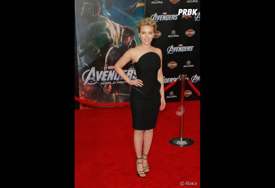 Scarlett Johansson à l'avant-première mondiale de The Avengers