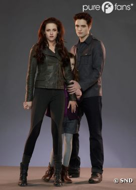 Edward, Bella et Renesmée dans Twilight 4 partie 2