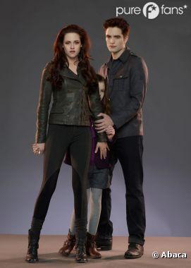 Bella, Edward et leur fille Renesmée