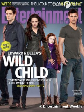 Robert, Kristen, Jacob et Renesmée dans Twilight 5, une vraie petite famille