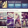 Kendall Jenner a 2 millions de followers sur Instagram !