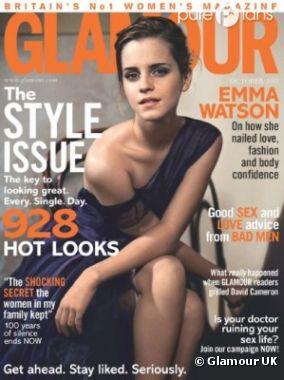 Emma Watson canon pour Glamour UK