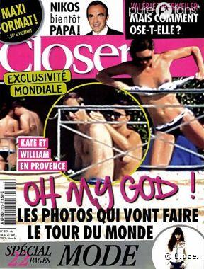 Kate Middleton, topless en Une de Closer