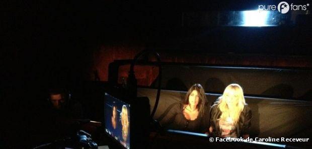 Caroline Receveur et Ayem : En plein tournage du spot pub de Paranormal Activity 4
