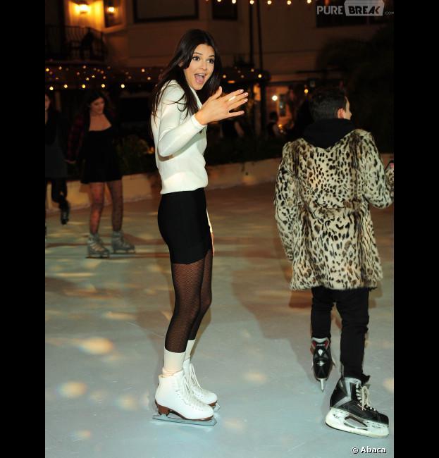 Kendall Jenner a fêté son anniversaire dans une patinoire !
