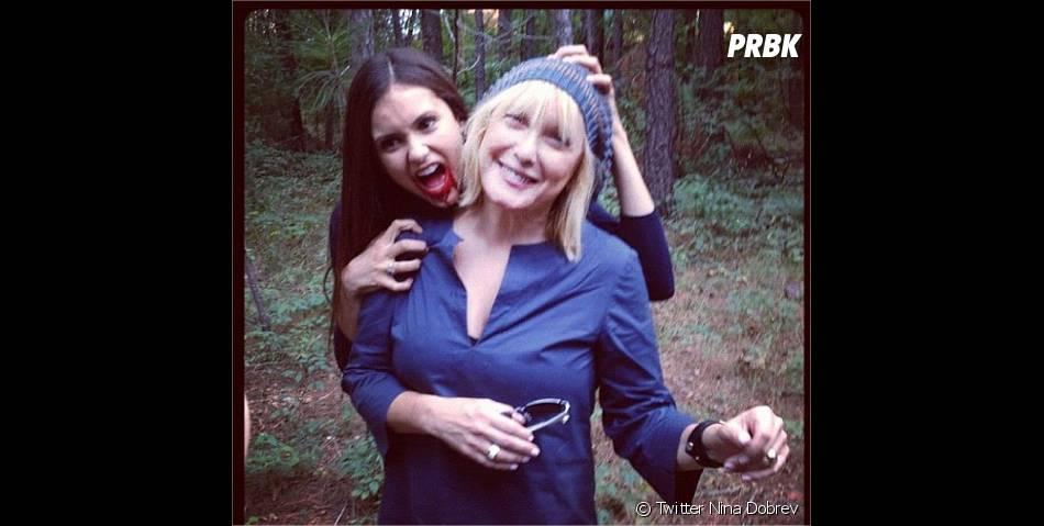 Nina Dobrev sur le tournage de Vampire Diaries