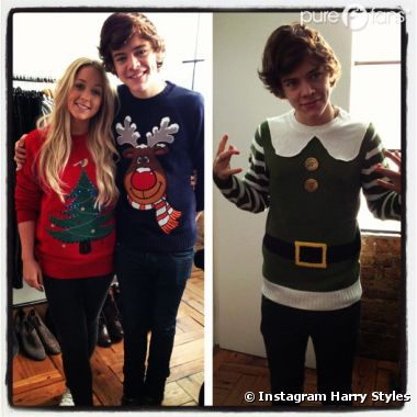 Harry Styles : Habillé en elfe vert pour Noël !
