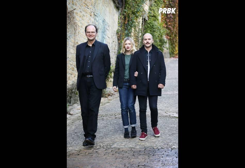Marc-André Grondin et Christa Théret accompagnés de Jean-Pierre Améris le réalisateur