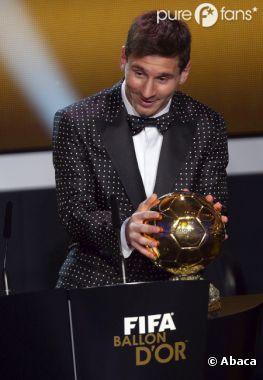 Lionel Messi, en mode Psy pour recevoir son Ballon d'Or