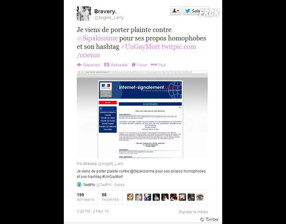 Un internaute a port plainte contre l 39 initiateur de ce - Porter plainte contre l administration ...
