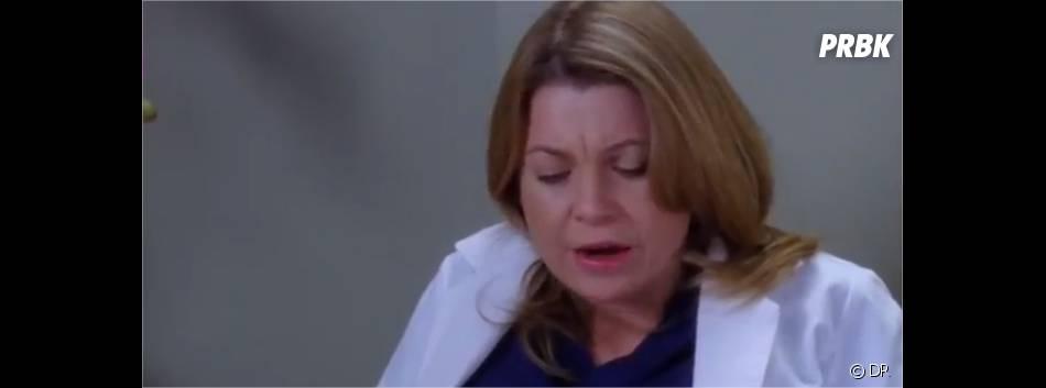 Meredith paniquée dans Grey's Anatomy