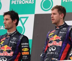 Ambiance sur le podium du Grand Prix de Malaisie, dimanche 24 mars 2013