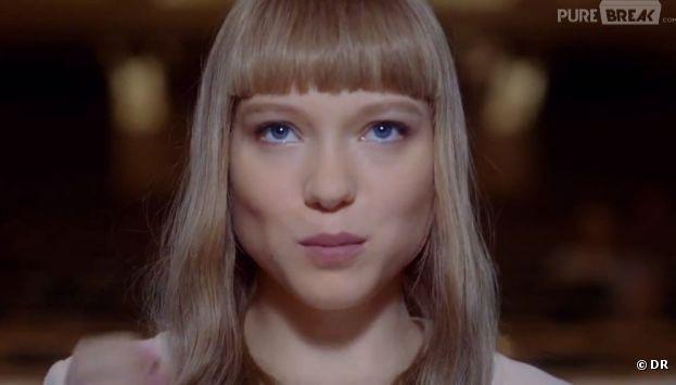 Léa Seydoux, espiègle dans la campagne Prada Candy 2013 filmée par Wes Anderson et Roman Coppola