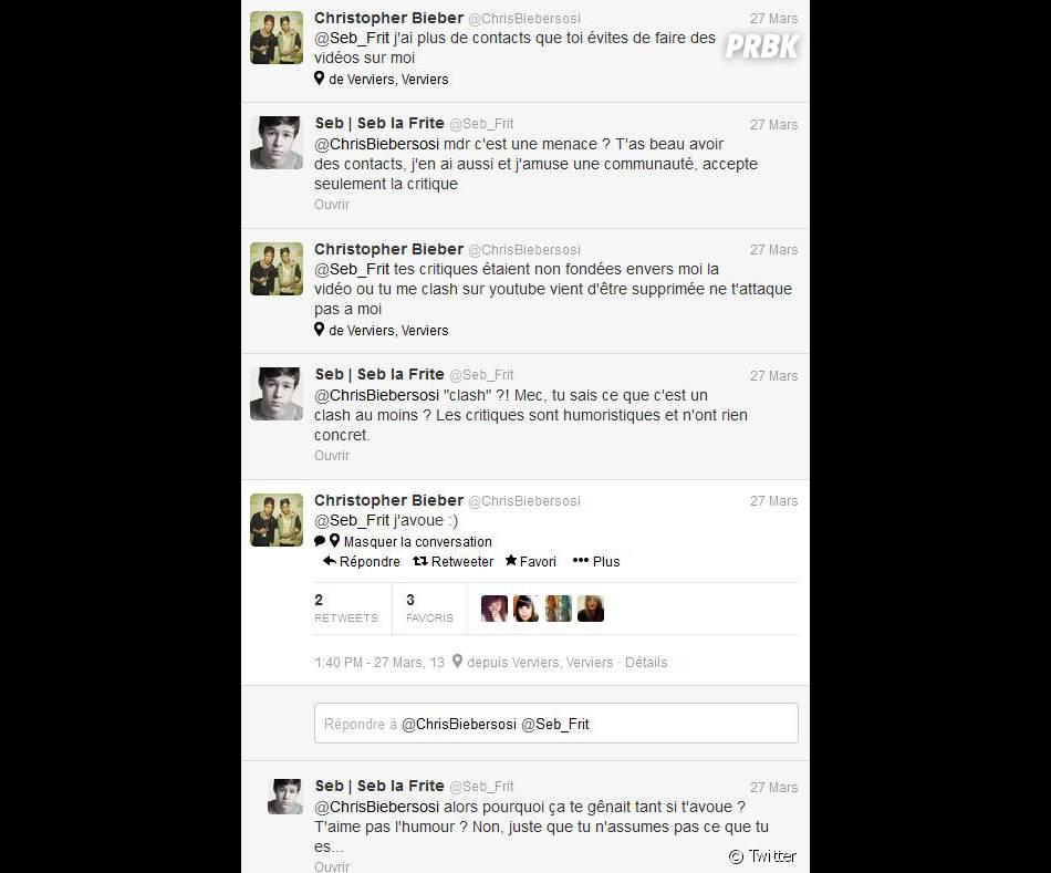 Seb La Frite et Chris Bieber se sont clashés sur Twitter