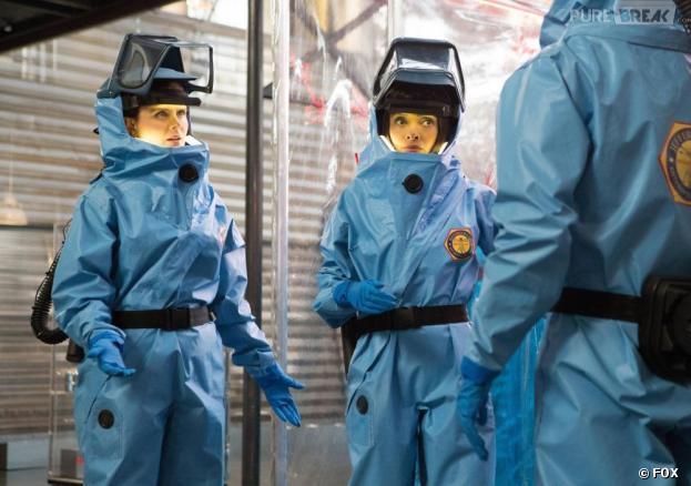 Brennan en quarantaine dans l'épisode 23 de la saison 8 de Bones