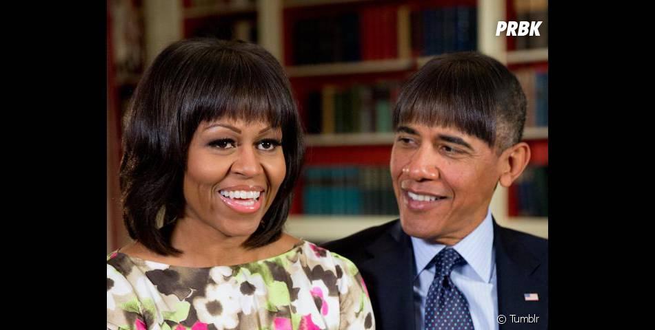 Le détournement déjà culte de Barack Obama avec la frange de sa femme Michelle fait forcément partie des photos du tumblr de la Maison Blanche