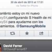 David Ferrer complètement out : sa pub pour le Galaxy S4... via iPhone