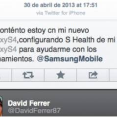 David Ferrer complètement out : sa pub pour le Galaxy S4... via iPhone