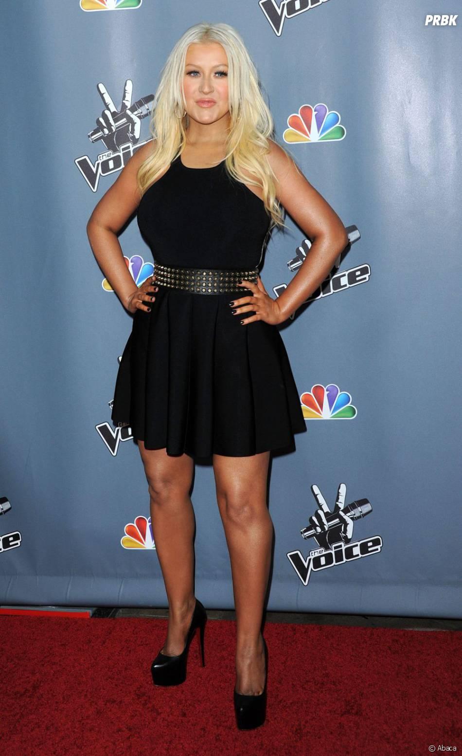 Christina Aguilera affirme avoir perdu 10 kg, ici en photo le 21 mars 2013