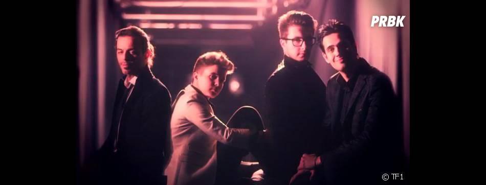 Les 4 finalistes de The Voice 2 lors de la grande finale sur TF1.