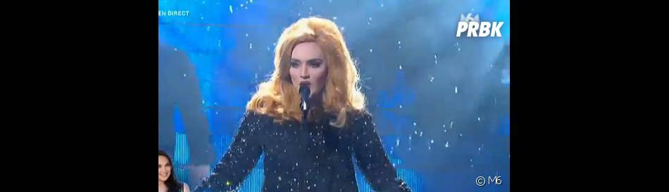 Valérie Bègue a tout donné pour sa prestation sous les traits d'Adele dans Un air de star.