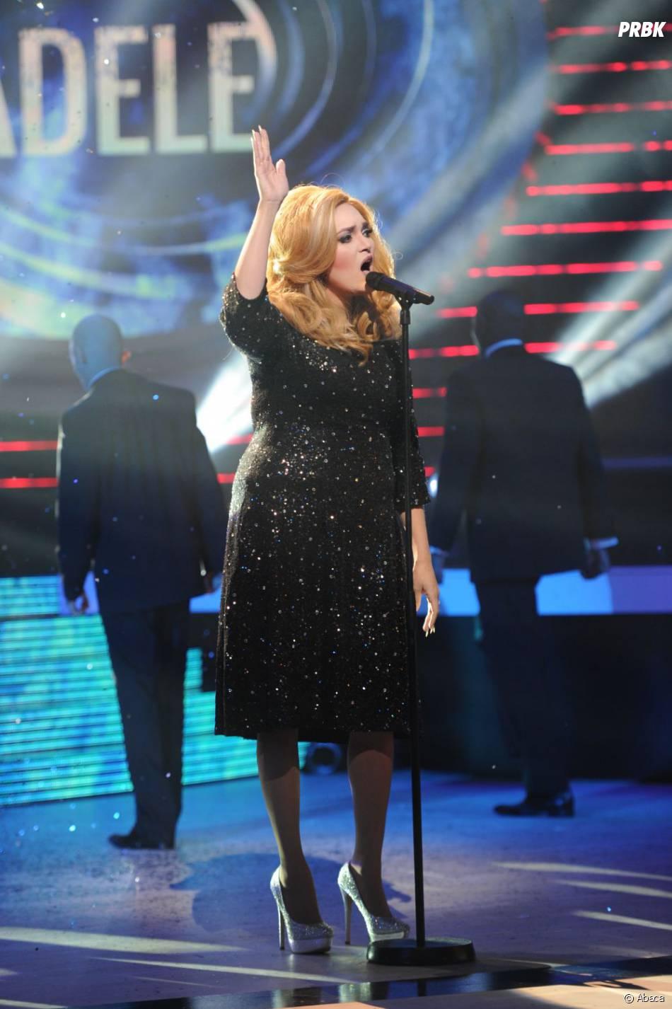 Valérie Bègue en Adele dans Un air de star sur M6.